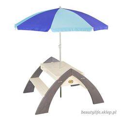 Drewniany stół piknikowy z parasolem delta marki Axi