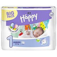 Pieluszki happy newborn (1) 2-5kg 78 szt. big pack marki Tzmo s.a.