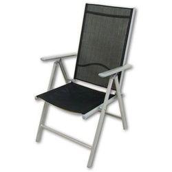 Krzesło aluminiowe rozkładane ogrodowe Garth czarne