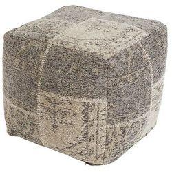 Vintage kwadratowy puf beżowy 45 x 45 x 45cm - agra marki Qazqa