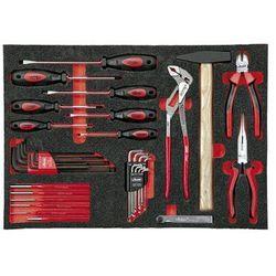 Vigor Zestaw narzędzi we wkładce z miękkiej gąbki, narzędzia ręczne, 55-częściowy. na