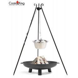 Zestaw 3w1 kociołek nierdzewny 10l na trójnogu + palenisko bali 70cm marki Cook&king
