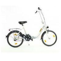 Aluminiowy rower składany SKŁADAK niska rama MIFA 3-biegi SHIMANO NEXUS biały, 228673912