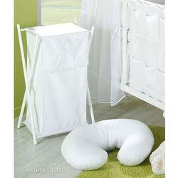 MAMO-TATO Kosz na bieliznę Serduszka w Bieli - produkt z kategorii- Kosze na pranie