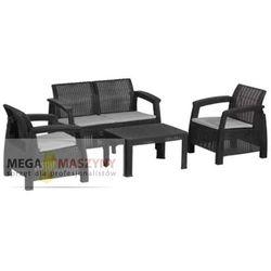 HECHT Zestaw mebli ogrodowych stół+2 fotele+kanapa Panay Set Maxi