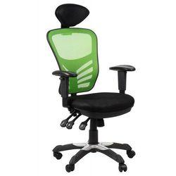 Fotel biurowy gabinetowy HG-0001H/ZIELONY krzesło biurowe obrotowe