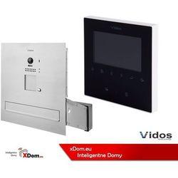 Zestaw s1201-sk skrzynka na listy z wideodomofonem i czytnikiem kart, m1022b monitor 4'' wideodomofonu marki Vidos