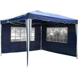 Mks Ekspresowy pawilon ogrodowy namiot 3x3m 2 sciany - niebieski