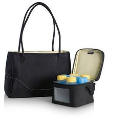 torebka citystyle z chłodziarką i butelkami wyprodukowany przez Medela