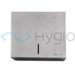 Hygio pojemnik podajnik na ręczniki papierowe zz maxi stal szczotkowana mat m
