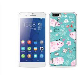 Fantastic Case - Huawei Honor 6 Plus - etui na telefon Fantastic Case - różowe świnki - sprawdź w wybranym
