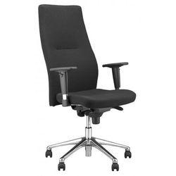 Krzesło obrotowe orlando hb r16h steel28 chrome - biurowe z regulacją głębokości siedziska, fotel biurowy, obrotowy marki Nowy styl