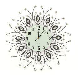 Zegar ścienny JVD HJ38 z kryształkami średnica 60 cm (8592818021091)