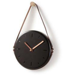 LaForma:: Zegar ścienny WOLLY śr.20cm czarny - czarny