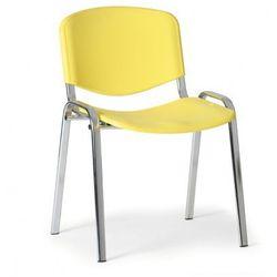 B2b partner Plastikowe krzesło iso, żółty - kolor konstrucji chrom
