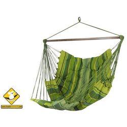 Fotel hamakowy szeroki z podstawką, zielony groszek HC-COMFY