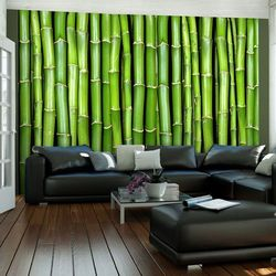 Artgeist Fototapeta - bambusowa ściana