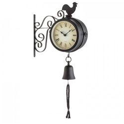early bird zegar ogrodowy zegar ścienny termometr 28x34x10cm dzwonek retro marki Blumfeldt