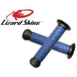 LZS-DDBDS400 Chwyty kierownicy LIZARDSKINS LOGO FLANGE DC 147 mm, niebieskie - produkt z kategorii- rogi i chw