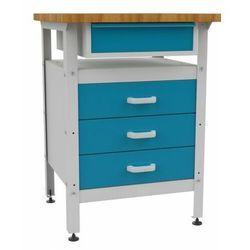 Malow Metalowy stół warsztatowy roboczy z szufladami stw114 600mm