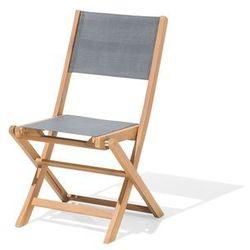 Beliani zestaw do ogrodu 2 krzesła drewniane textilene ciemnoszare cesana (4251682200417)