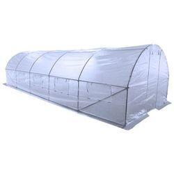 tunel foliowy, ogrodowy - 300 x 800 cm (24 m2) - biały marki Home&garden