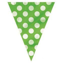 Baner flagi zielone w kropki - 3,65 m.