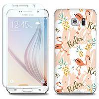 Full Body Slim Fantastic - Samsung Galaxy S6 Edge - etui na telefon Full Body Slim Fantastic - różowe flamin