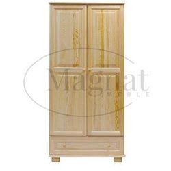 Magnat - producent mebli drewnianych i materacy Szafa drewniana 2d nr1 wieszak/półki s80
