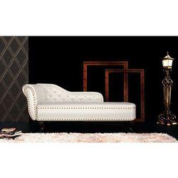 Vidaxl  leżanka, sofa podłóżna chesterfield, biała, kategoria: sofy