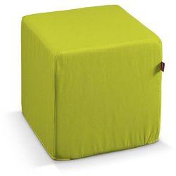 pufa kostka twarda, limonka, 40x40x40 cm, jupiter marki Dekoria