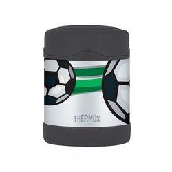 Termos dla dzieci na posiłek Thermos FUNtainer 290 ml (stalowy/czarny) motyw piłka, 123010