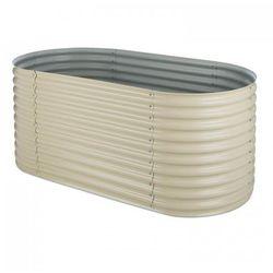 Blumfeldt high grow podniesiona grządka ogrodowa powłoka cynkowo-aluminiowa beż (4260486155250)