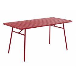 Stół ogrodowy mirmande z metalu - dł. 160 cm - czerwony marki Vente-unique
