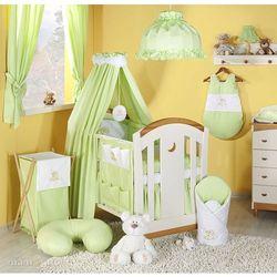 pościel 14-el miś na chmurce w zieleni do łóżeczka 60x120cm - tkanina marki Mamo-tato