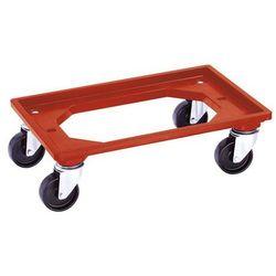 Wózek transportowy, dł. x szer. 600x400 mm, z 4 rolkami skrętnymi. Do bezpieczne