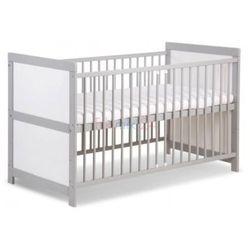 łóżeczko przemek ii biało szary 140x70 cm marki Klupś