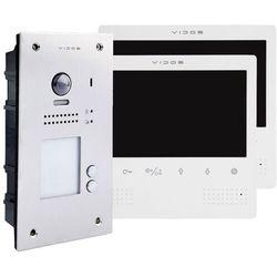 Vidos Wideodomofon dwurodzinny z czytnikiem rfid s1202a_m1023w (5907281206266)