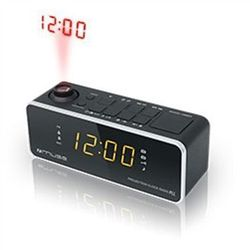 Muse Clock radio M-188P Black, 0.9 inch amber LED, with dimmer (3700460203566)