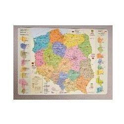 Podkładka na biurko - Mapa administracyjna Polski (mapa szkolna)