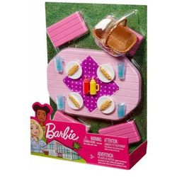 Mattel Mebelki stół ogrodowy barbie