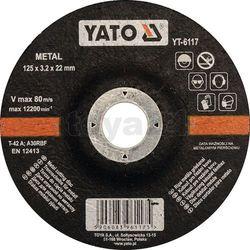 Tarcza do cięcia metalu, wypukła 125x3.2x22 mm / yt-6117 /  - zyskaj rabat 30 zł marki Yato