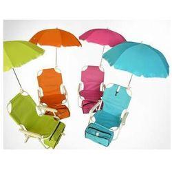Leżak z parasolką dla dzieci limonka (5904134480231)