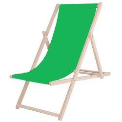 Leżak drewniany lakierowany zielony