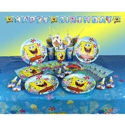Zestaw urodzinowy spongebob kanciastoporty 37 elem. marki Amscan