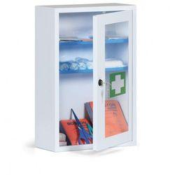 Metalowe apteczki ścienne ze szklanymi drzwiami, bez zawartości - produkt z kategorii- Pozostałe artykuły