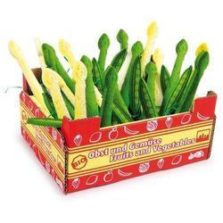 Szparagi i groszek w skrzyneczce (36 sztuk) - zabawka dla dzieci
