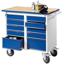 Mobilny stół warsztatowy flex, 10 szuflad, 1100x595x900 mm marki Aj produkty