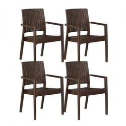 Krzesło ogrodowe ratas, imitacja ratanu, 4 sztuki marki B2b partner