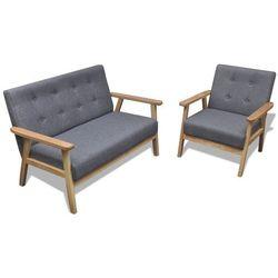 vidaXL Zestaw wypoczynkowy drewniana sofa i fotel Retro, kup u jednego z partnerów